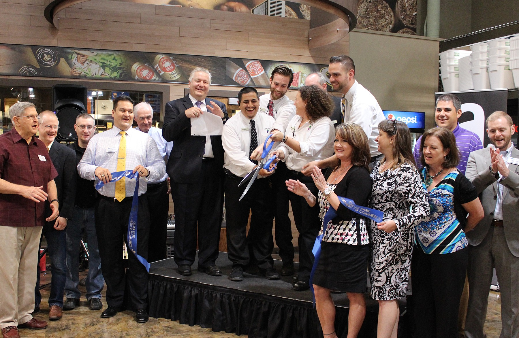 Total Wine ribbon cutting