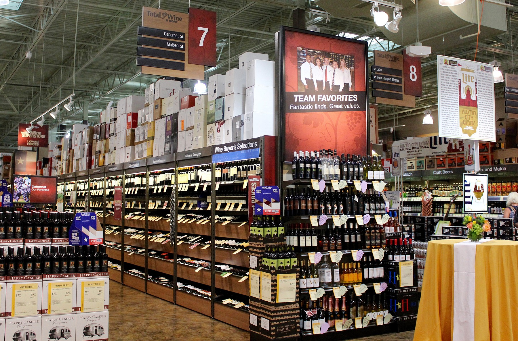 Total Wine selection