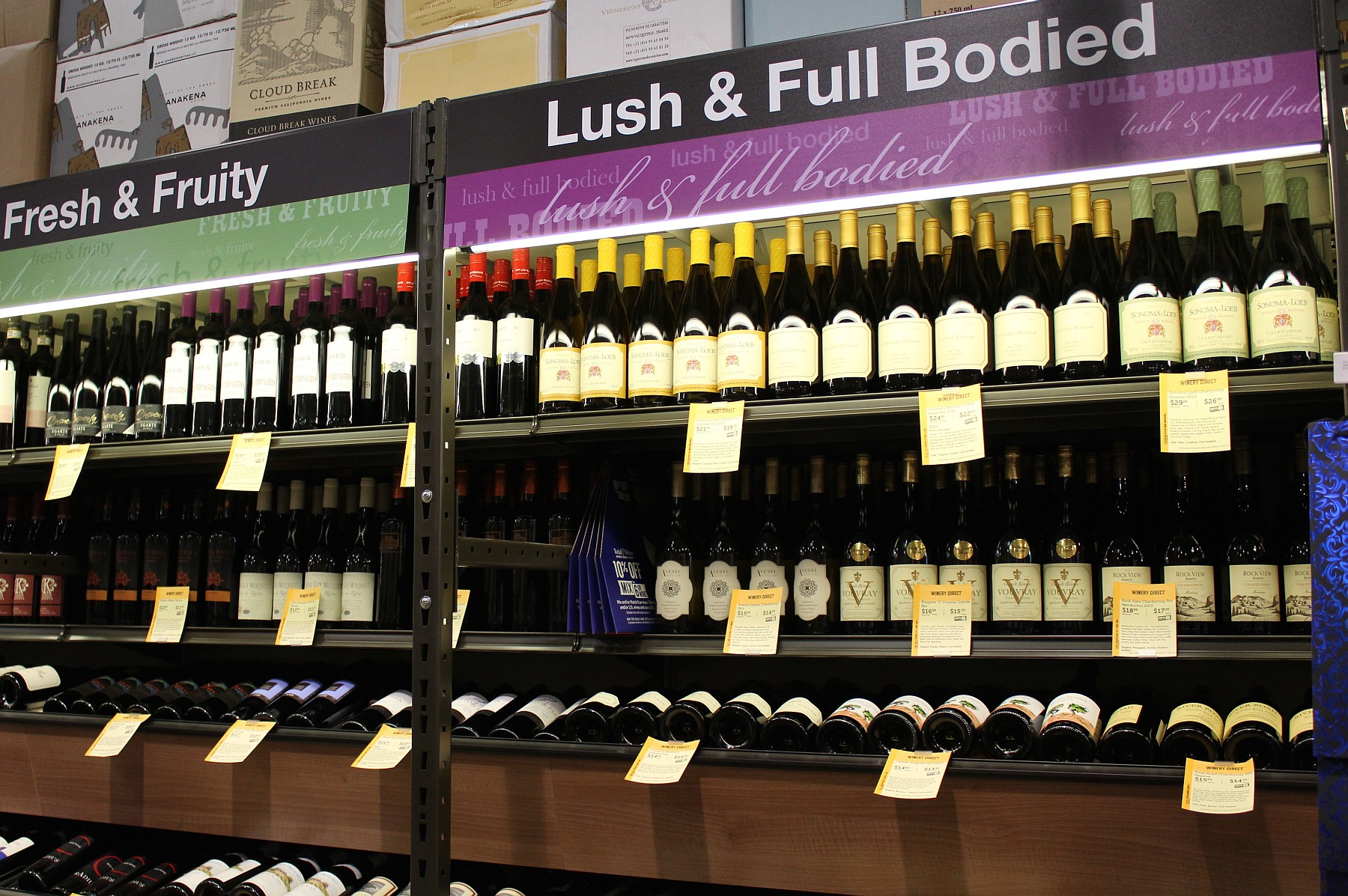 Total Wine wines by taste