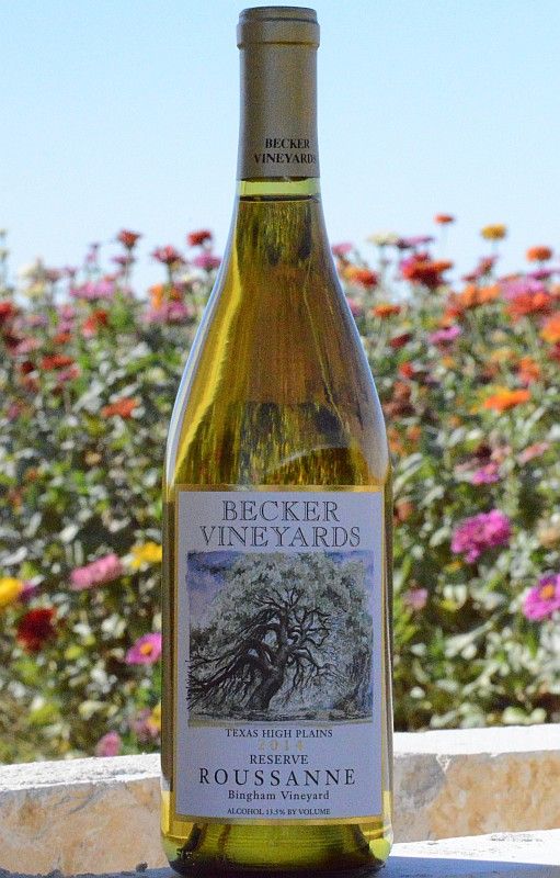 Becker Reserve Roussanne bottle