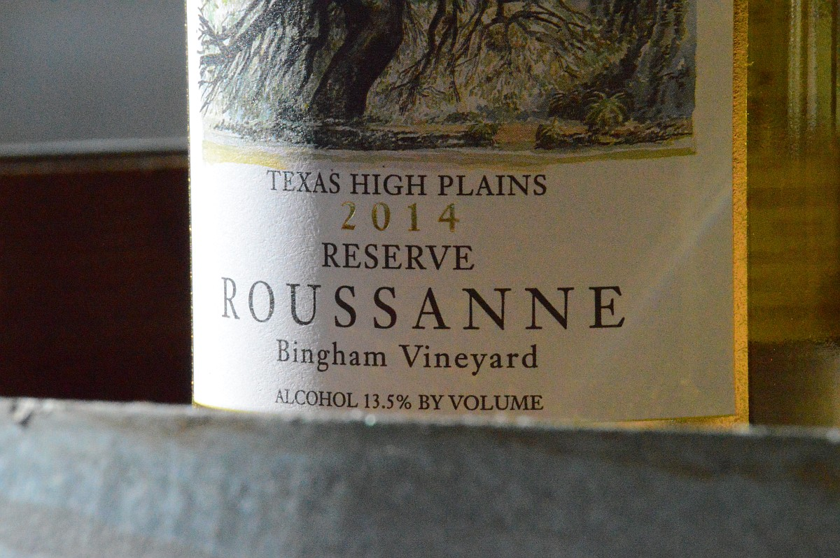 Becker Reserve Roussanne label