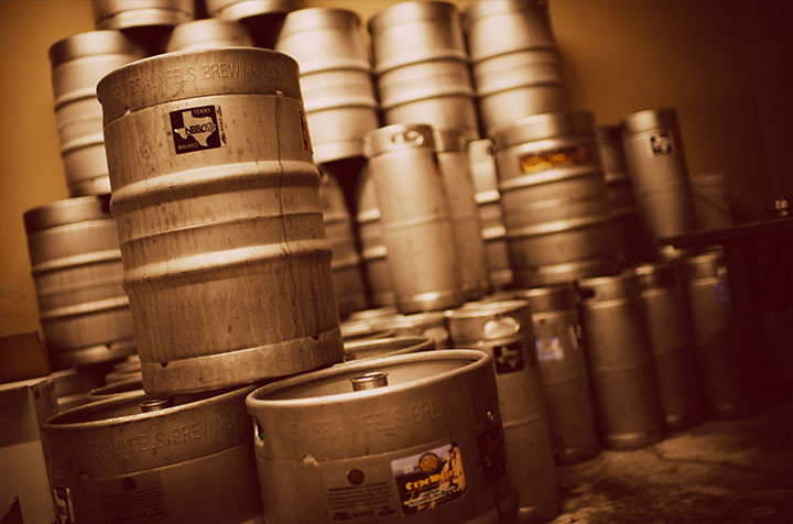 New Braunfels Brewing Company kegs