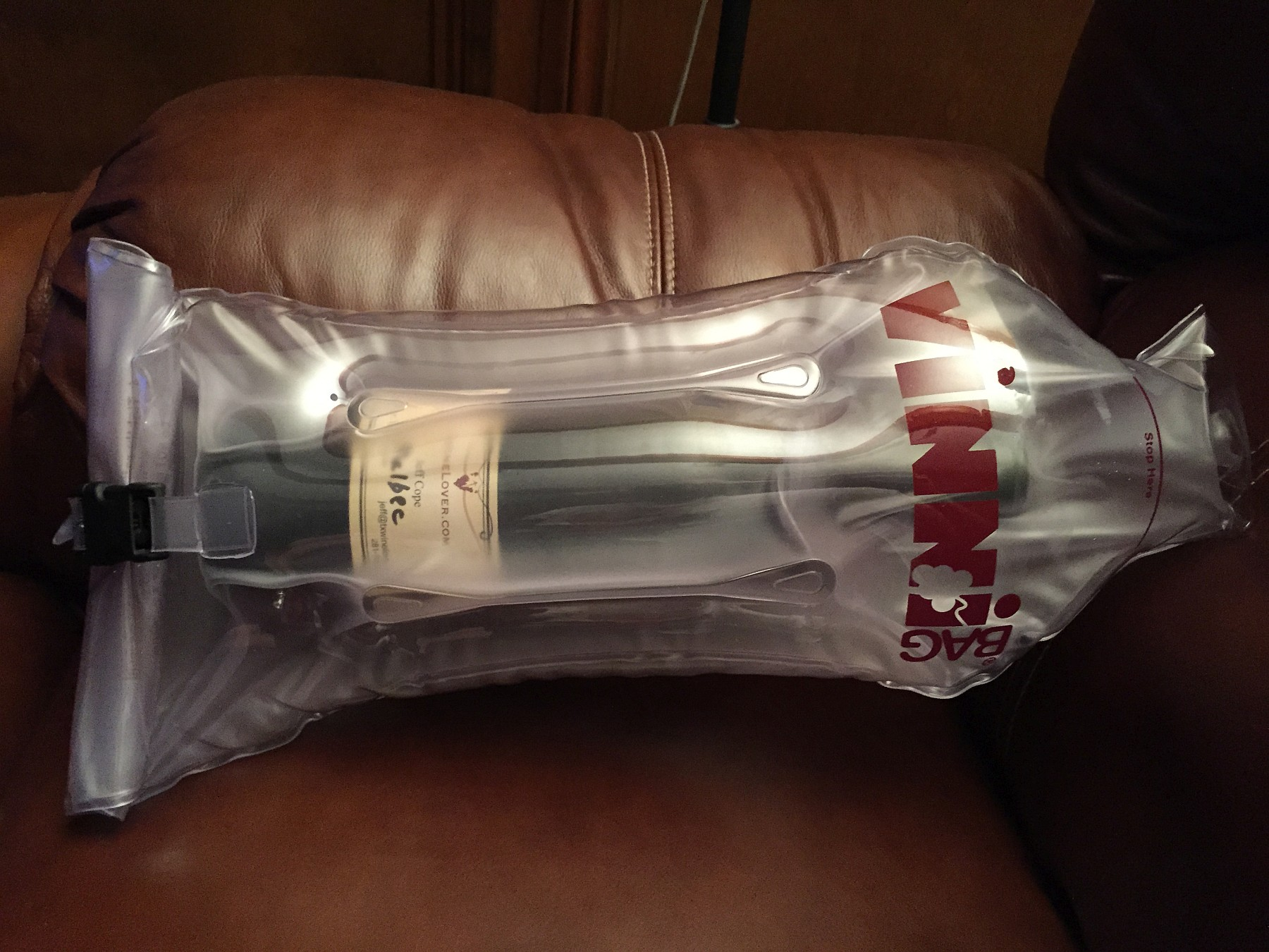 VinniBag with bottle