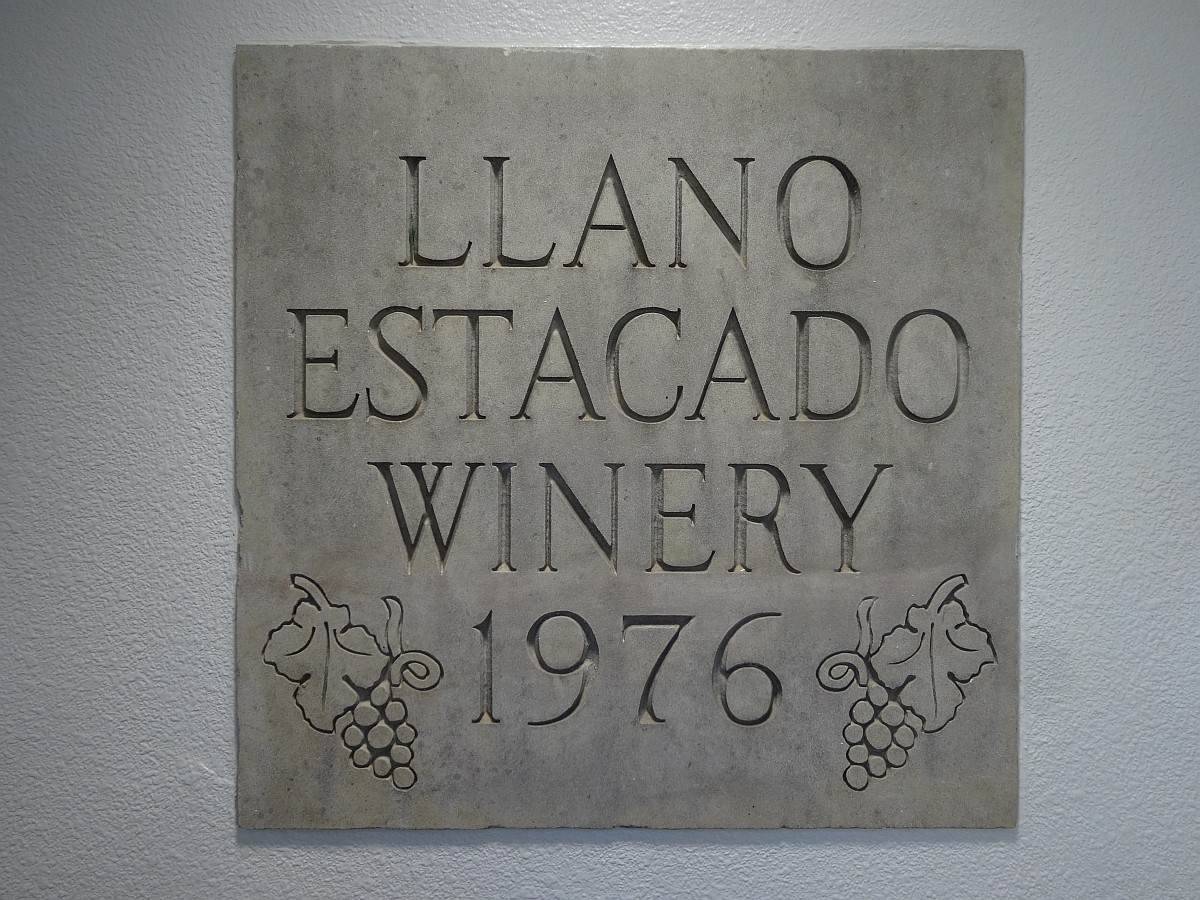 Llano Estacado Winery plaque