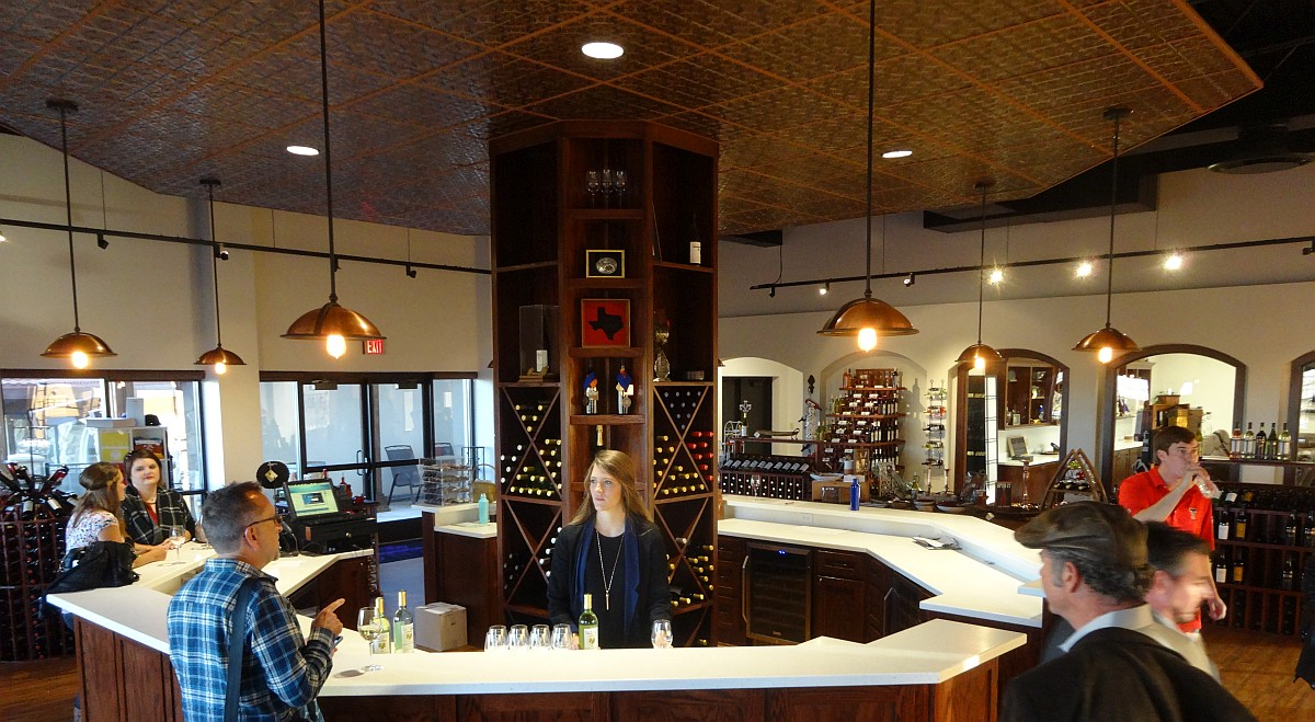 Llano Estacado Winery's new tasting room - inside