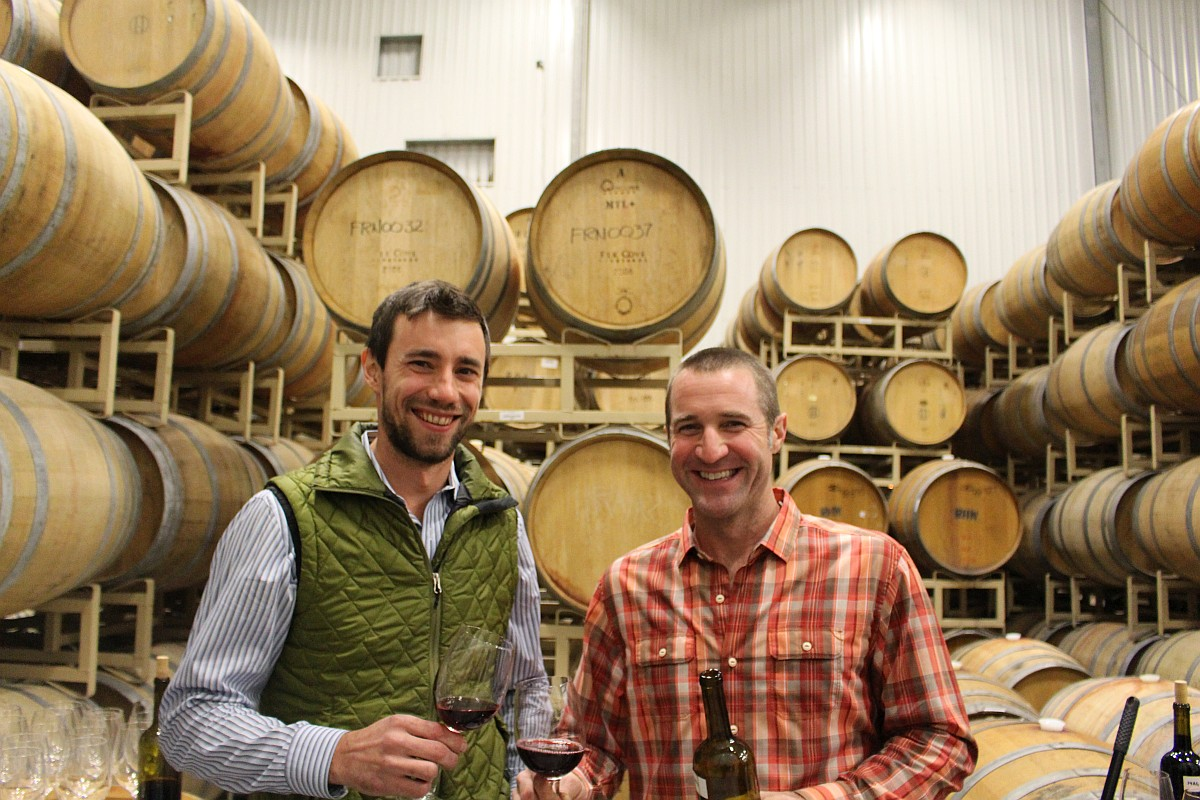 Assistant Winemaker Miles Elsey and Winemaker Dave Reilly