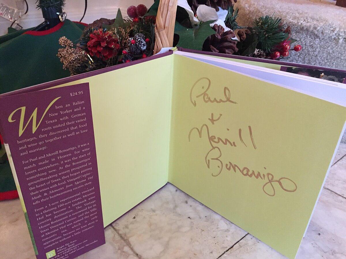 Vineyard Cuisine cookbook autographed