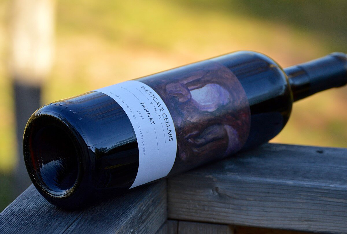 Westcave Cellars Tannat bottle side