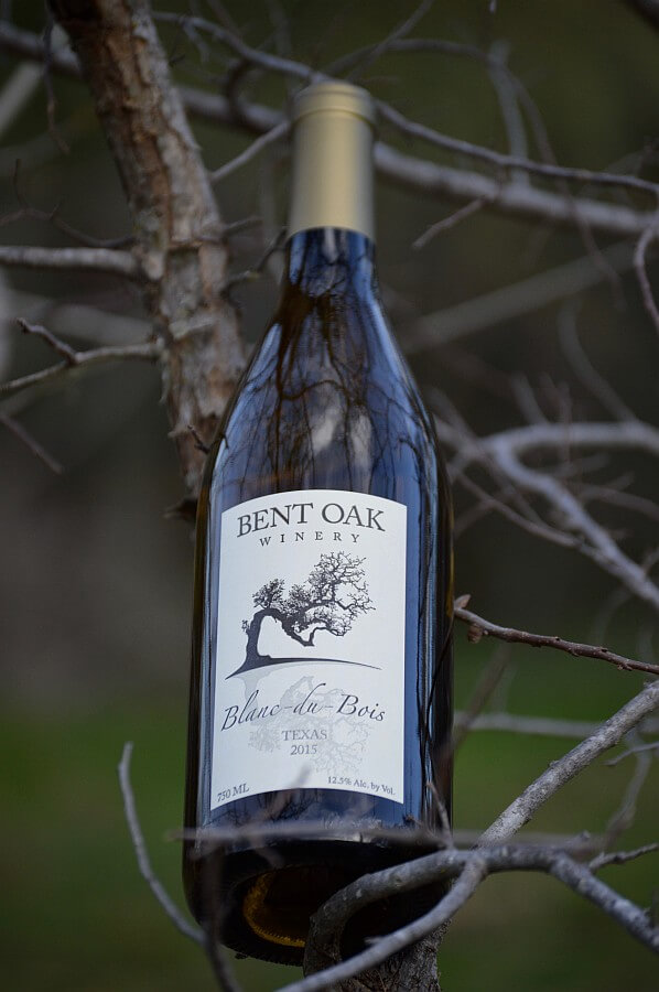 Bent Oak Winery Blanc du Bois bottle