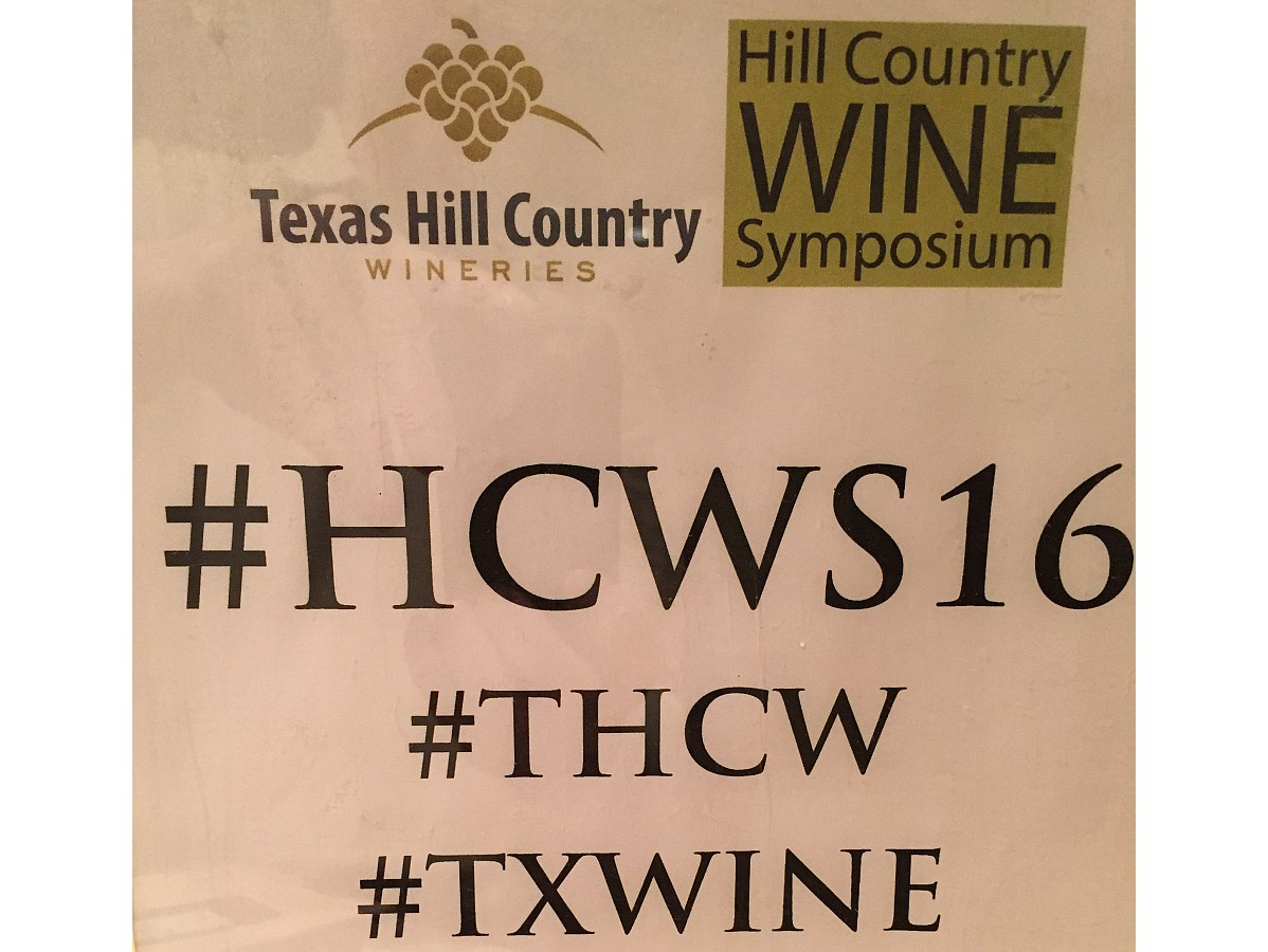 Hill Country Wine Symposium sign