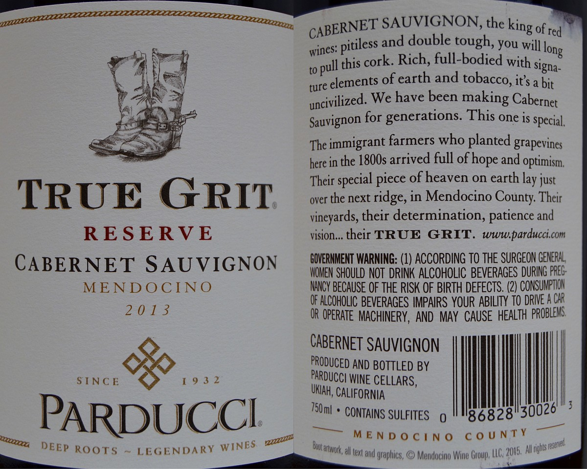 Parducci True Grit labels