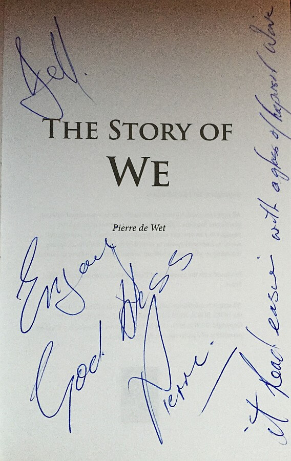 The Story of We autographed