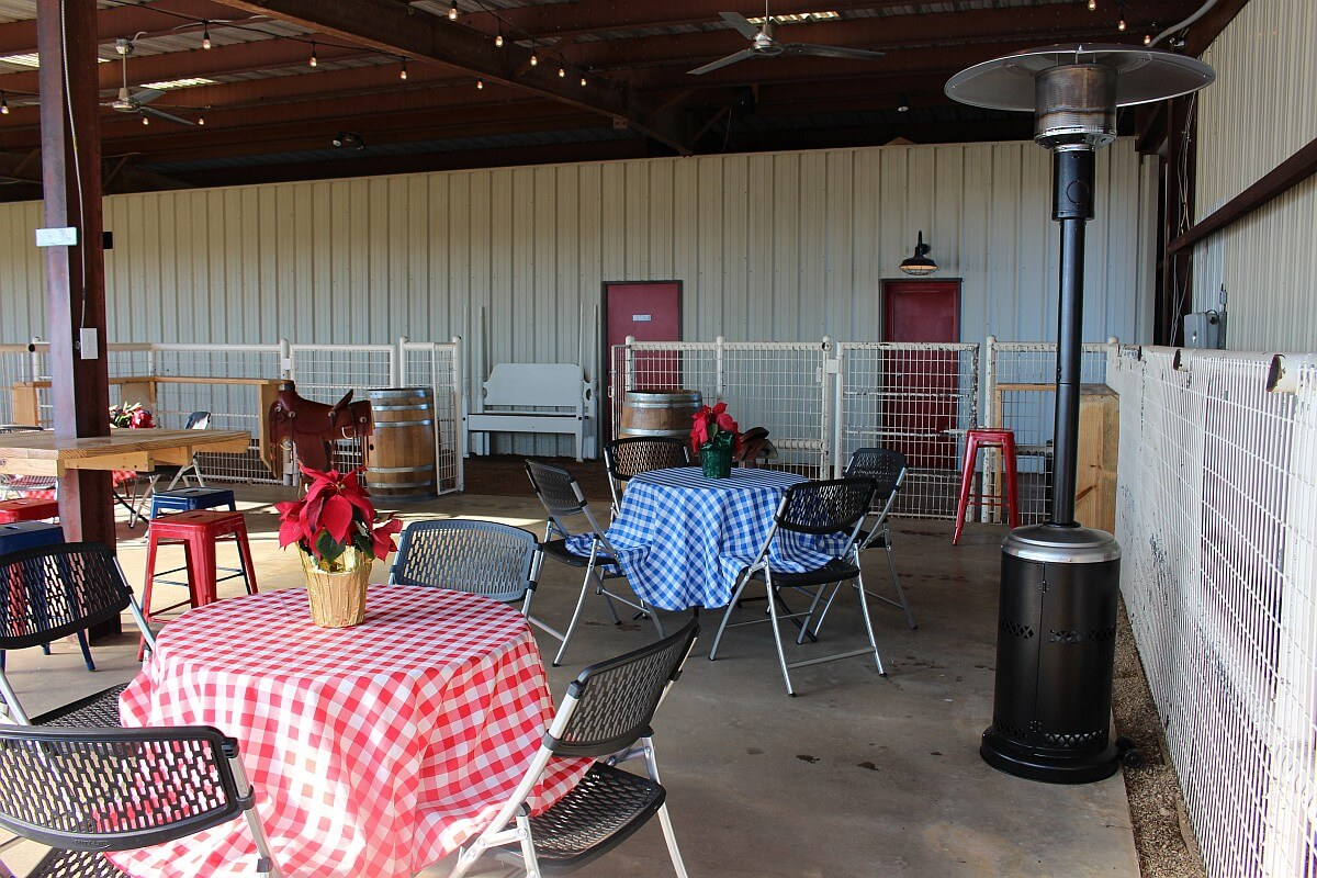 White Fox Vineyards patio
