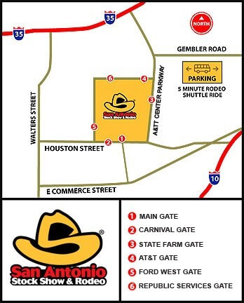 San Antonio Rodeo Map