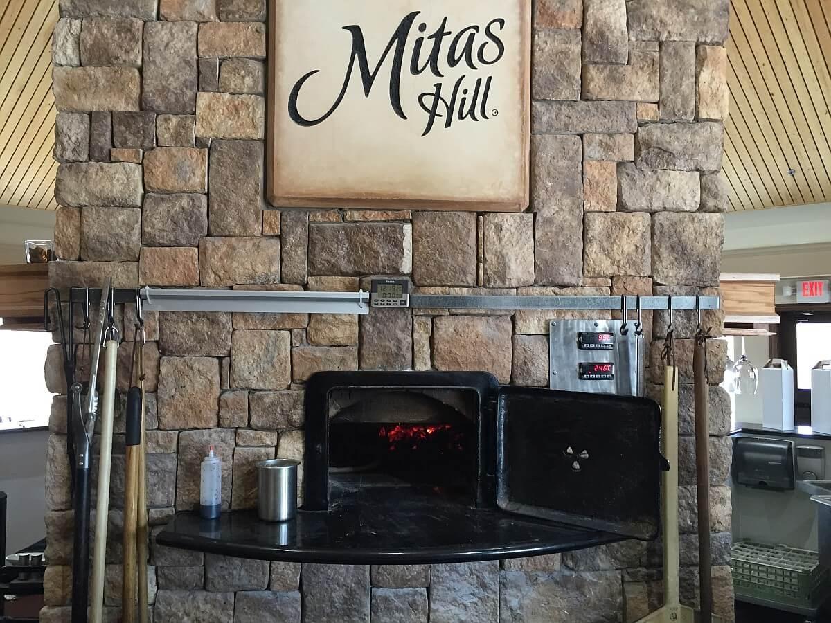Mitas Hill Vineyard wood oven