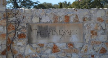 Vineyard at Florence front gate sign