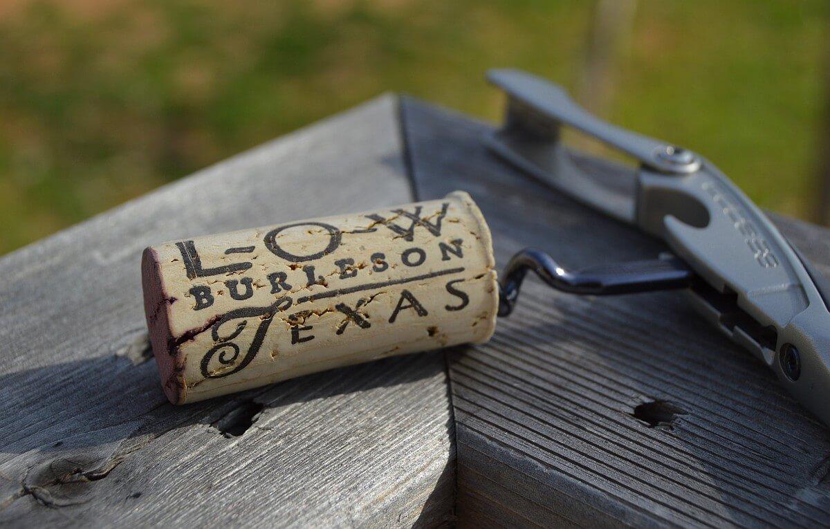 Lost Oak Cabernet Sauvignon cork