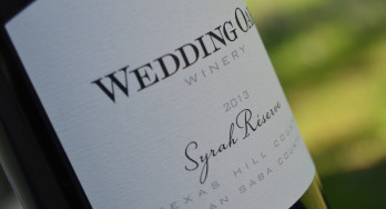 Wedding Oak Winery Syrah bottle