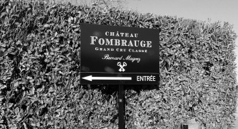 Château Fombrauge entrance sign