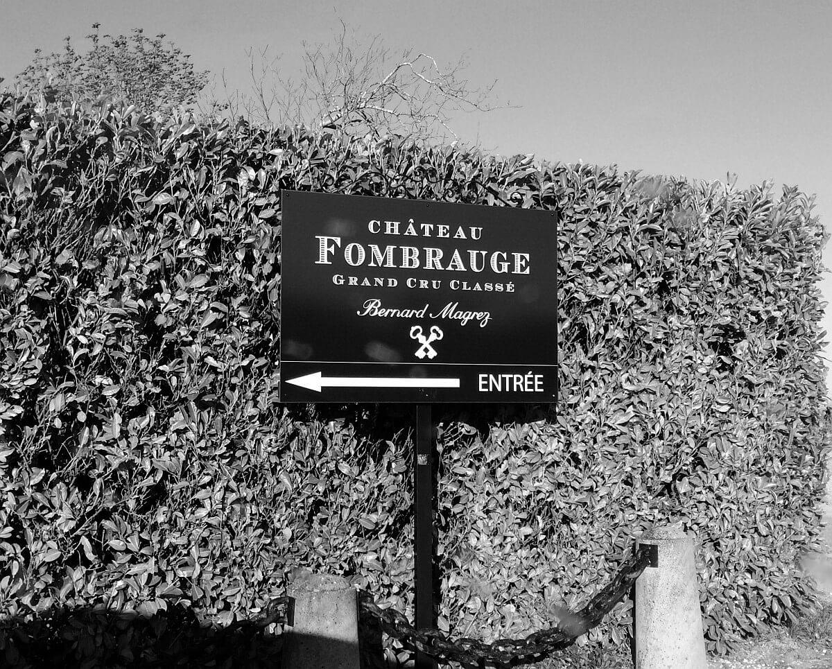 Château Fombrauge entrance sign