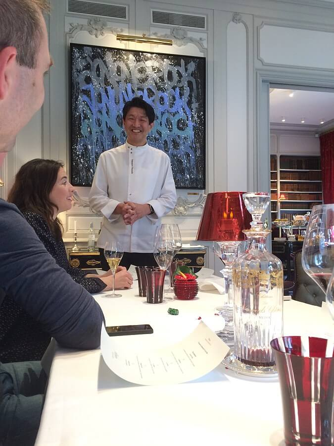 Chef introducing himself