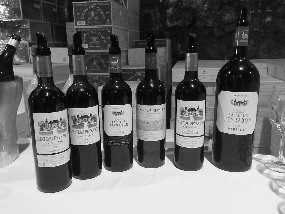 Wines in Bordeaux