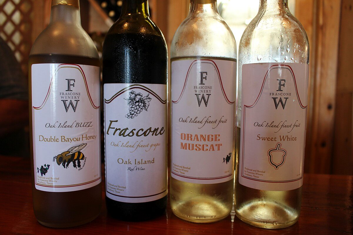 Frascone Winery bottles