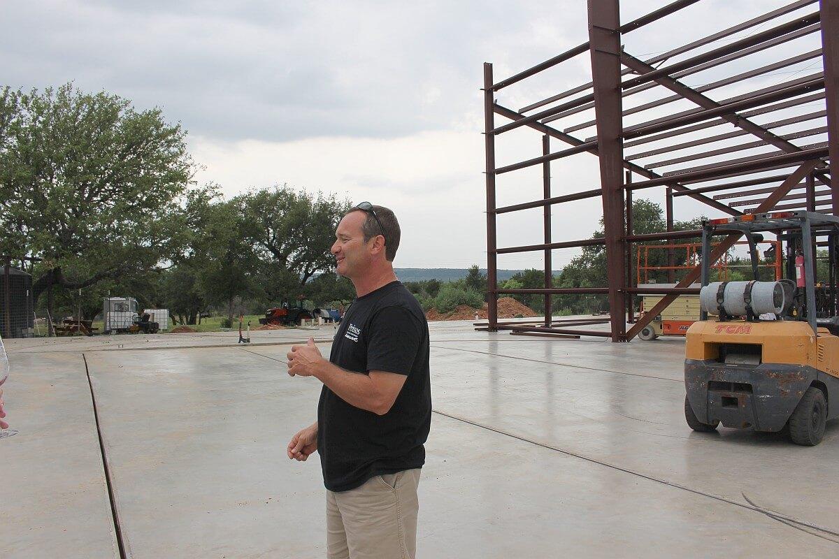 Seth Martin describing new building