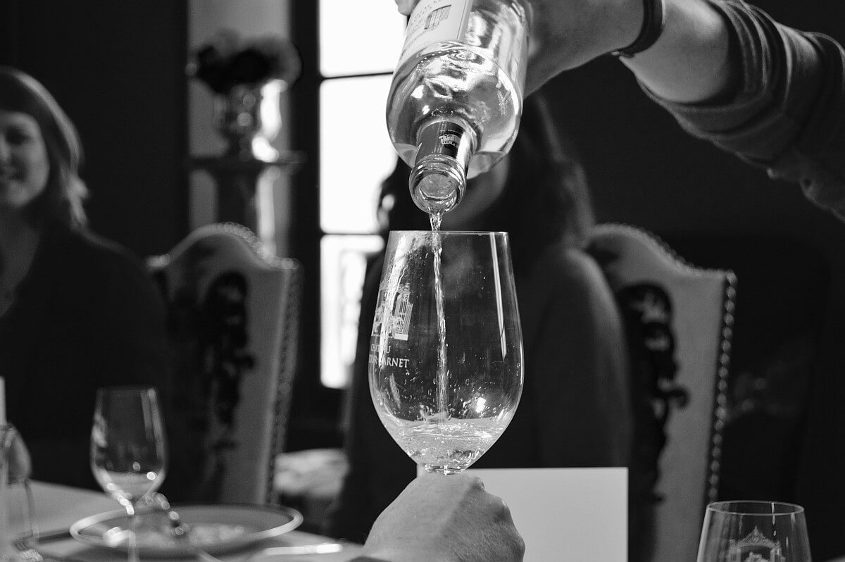 Grand Cru poured into the glass