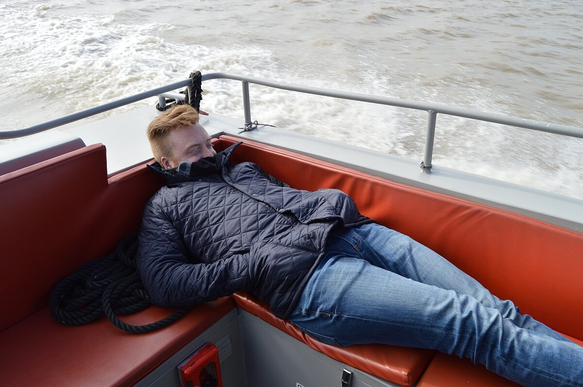 Mike chilling on the boat