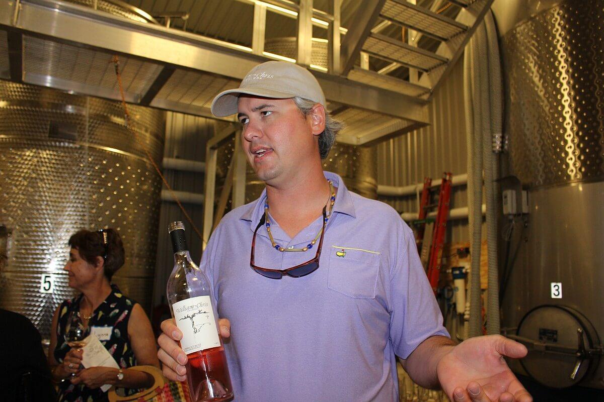 Chris Brundrett of William Chris Vineyards