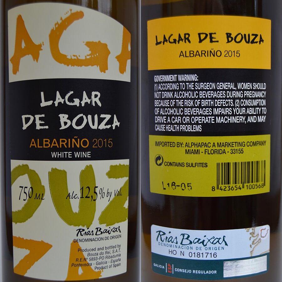 Lagar de Bouza Albariño labels