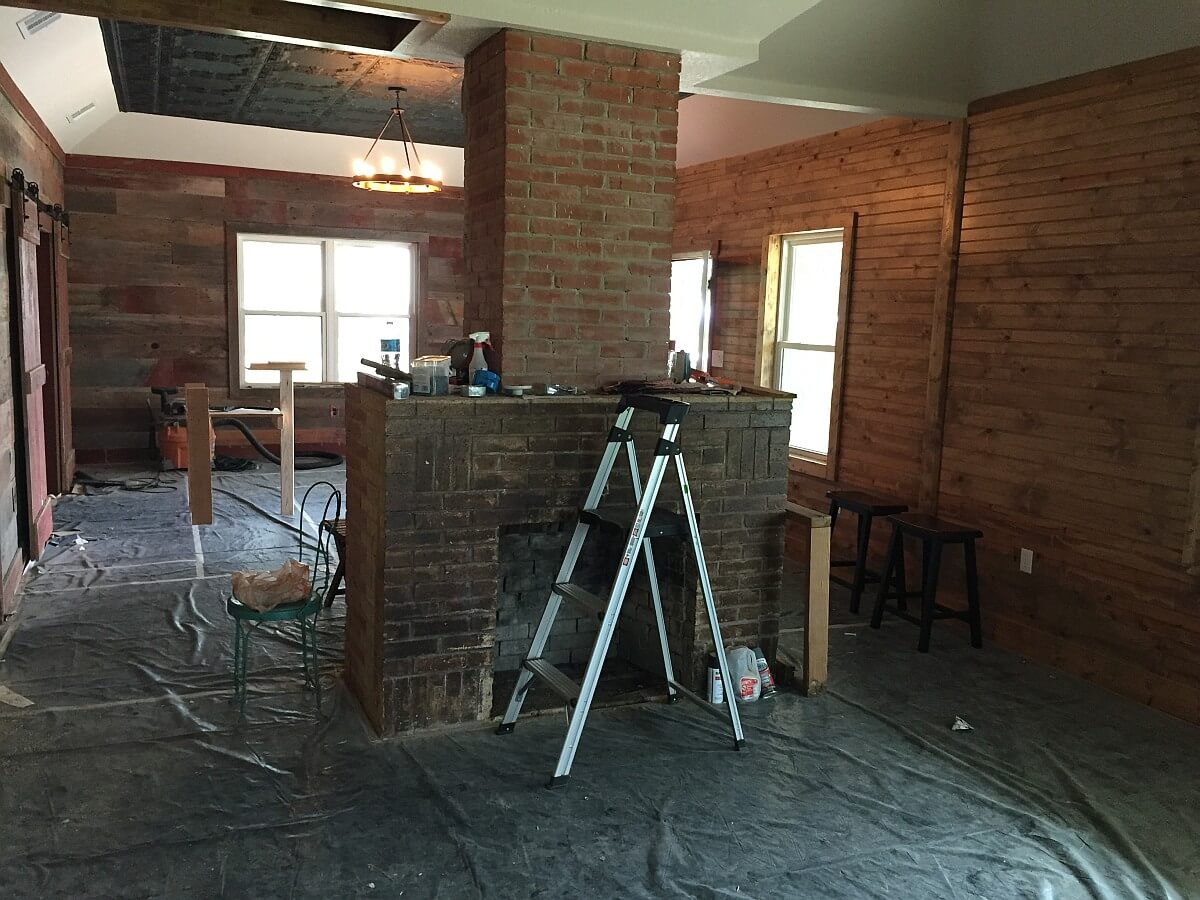 Remodeling the tasting room