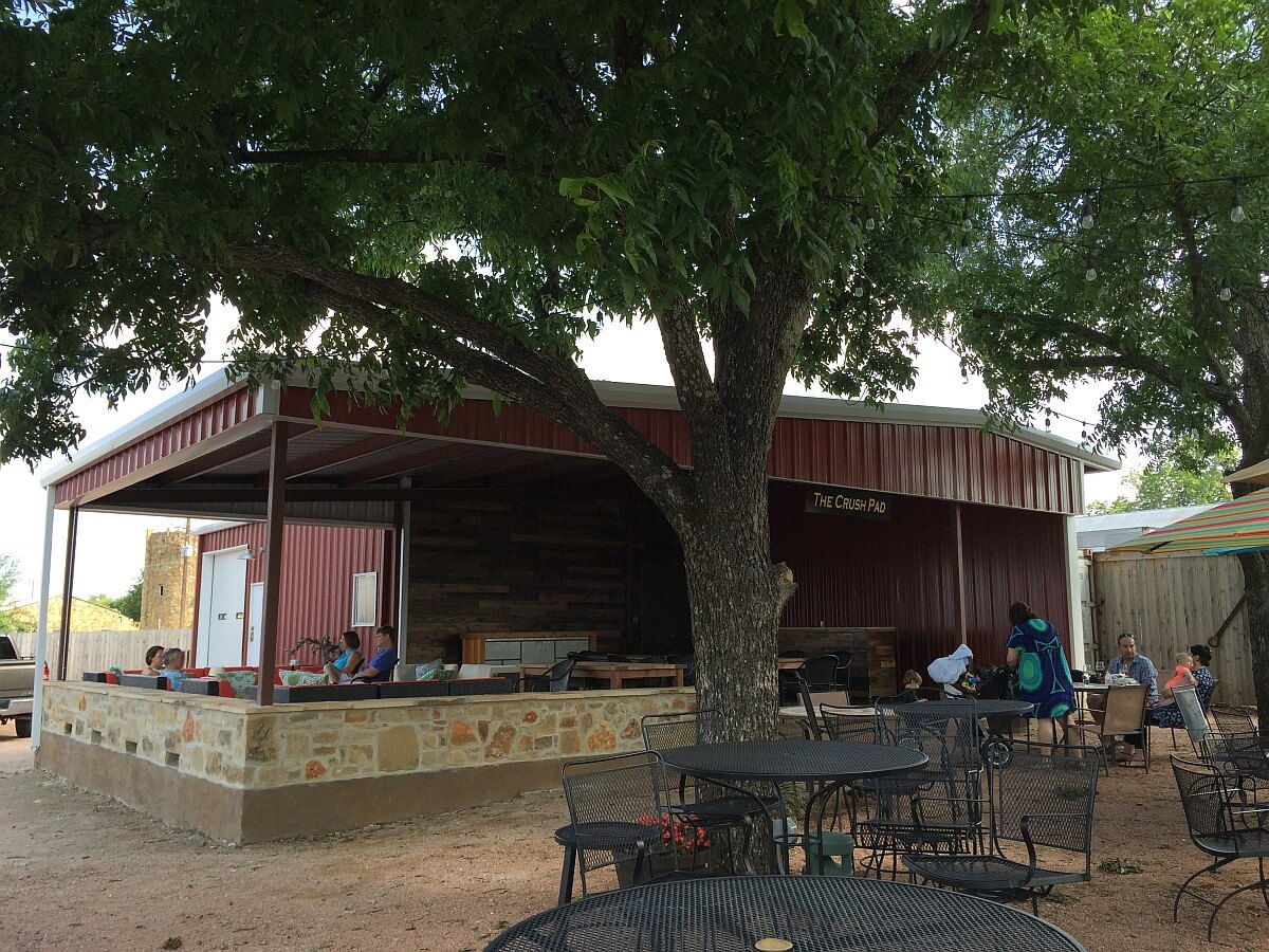 New covered patio at Lost Draw Cellars