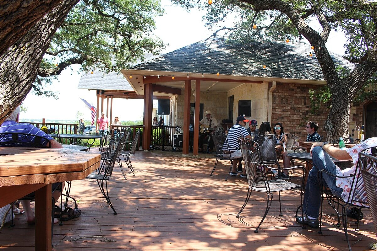 Pedernales Cellars patio