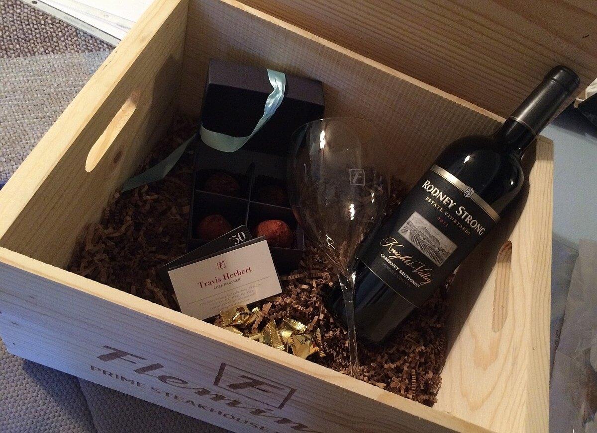 Flemings wine crate