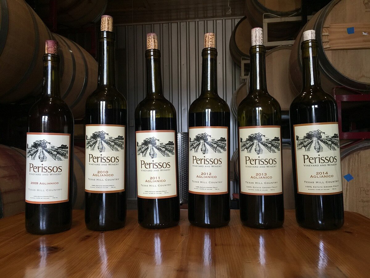 Perissos Aglianico vertical wines