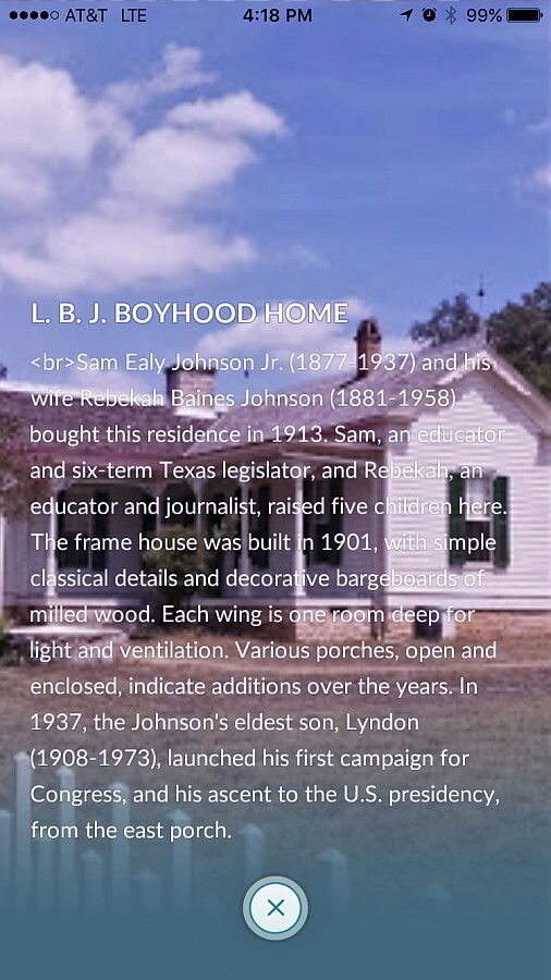 LBJ Boyhood Home Historical Info