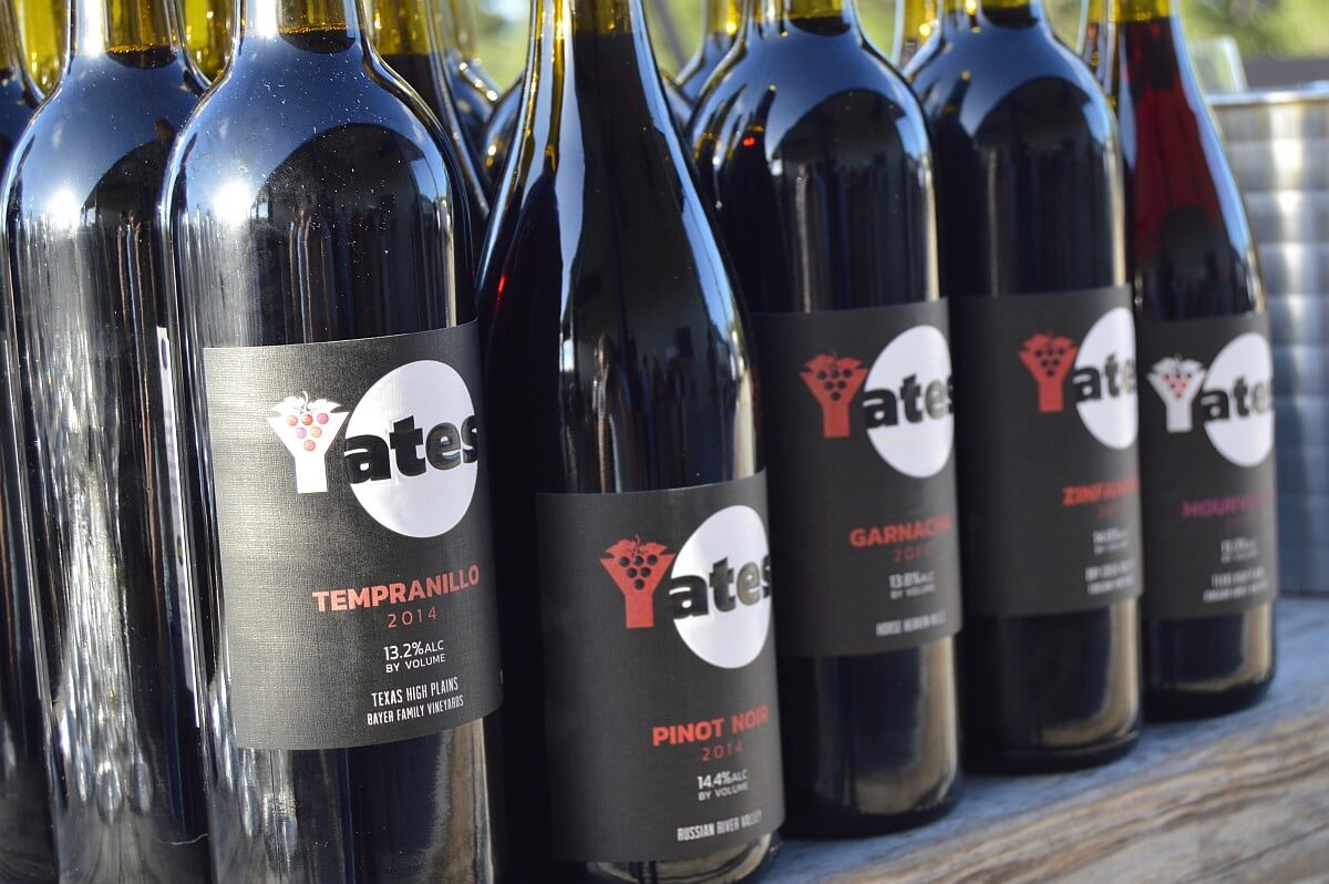 Yates red wines