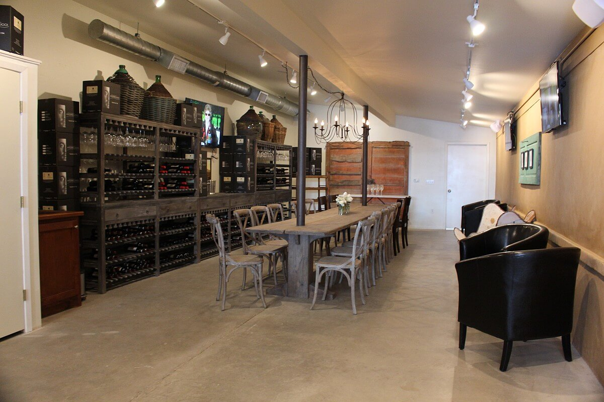 Andreucci Wines back room