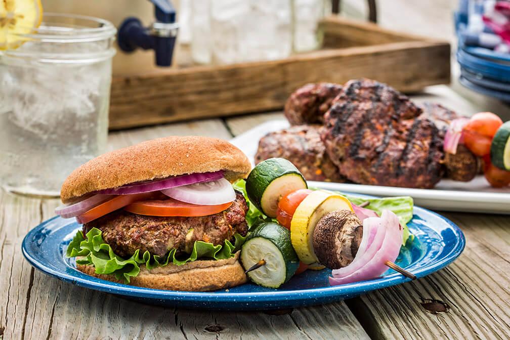 Lone Star Beef & Veggie Burger