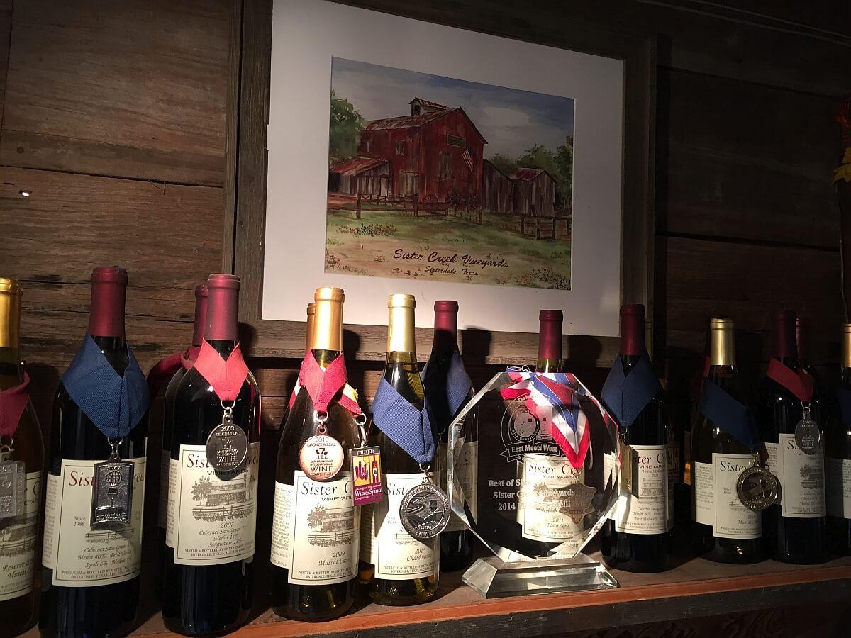Sister Creek Vineyards awards
