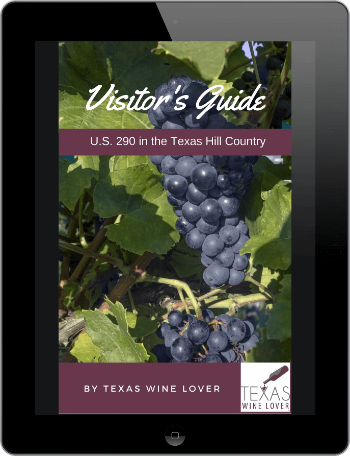 U.S. 290 in the Texas Hill Country book cover on mobile device