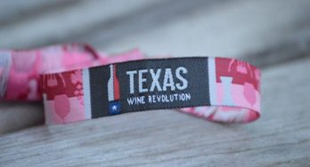 Texas Wine Revolution wristband