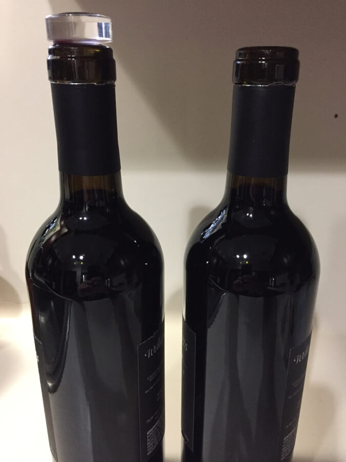 Optiwine comparison with two bottles