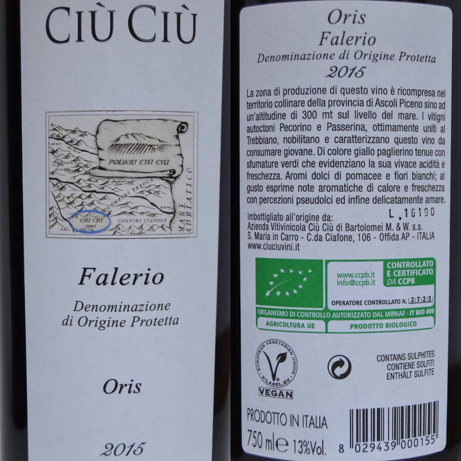 Ciù Ciù Oris labels