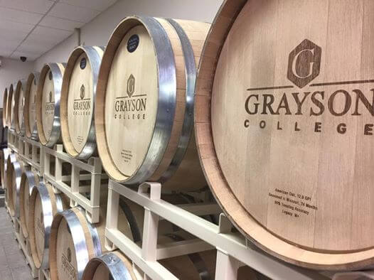 Grayson College barrels