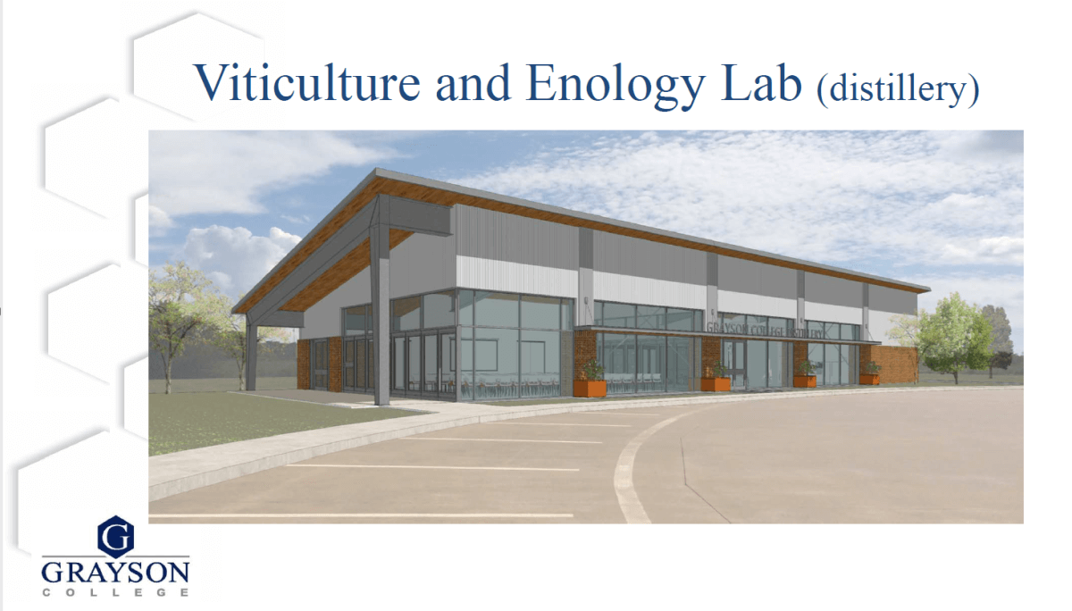 Grayson College Distillery Rendering