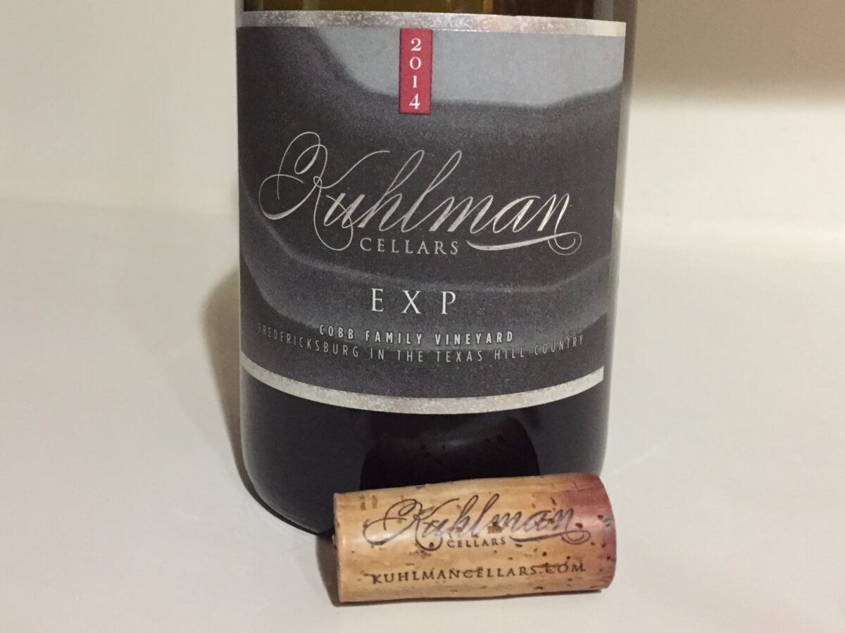 Kuhlman Cellars EXP cork