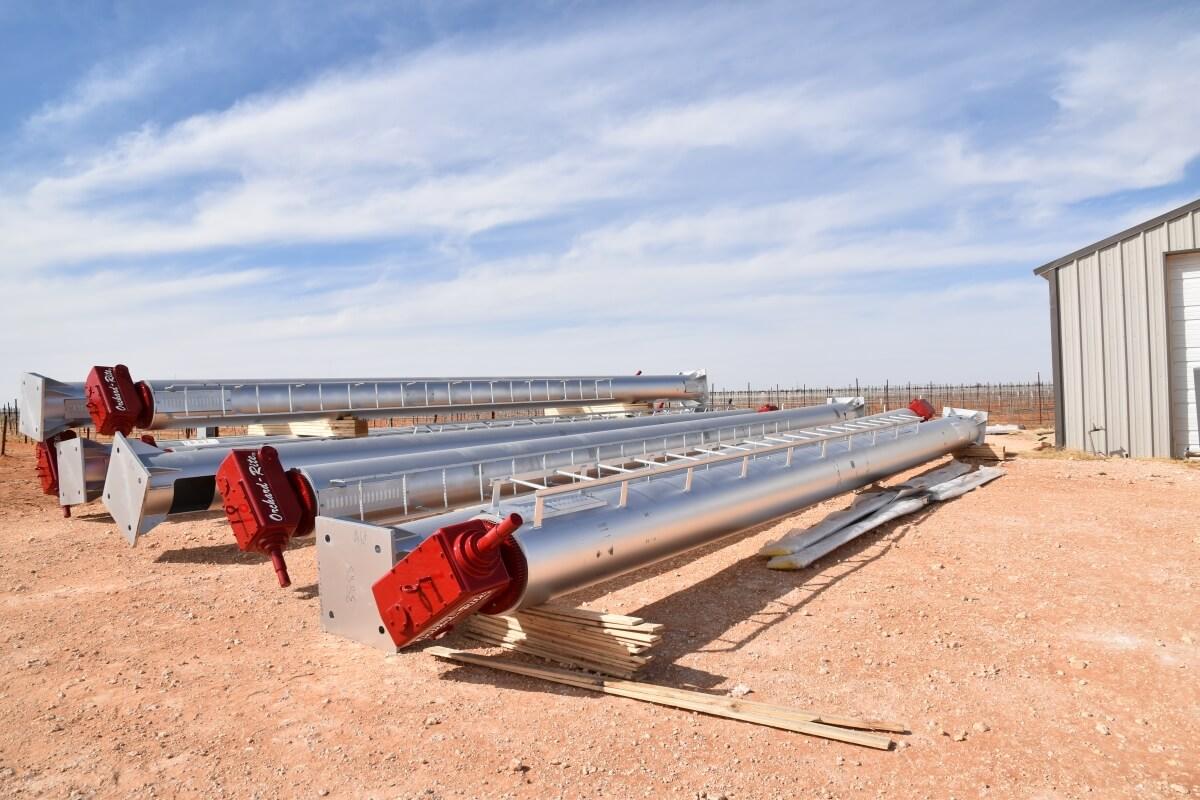 Wind Turbines On Ground